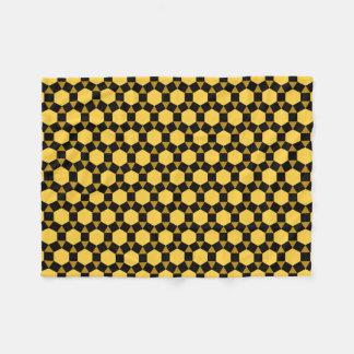 黒いブラウンおよび黄色いSTHのフリースブランケット フリースブランケット