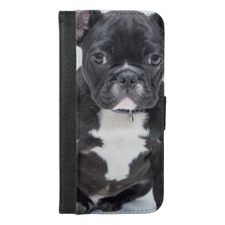 黒いブルドッグ iPhone 6/6S PLUS ウォレットケース