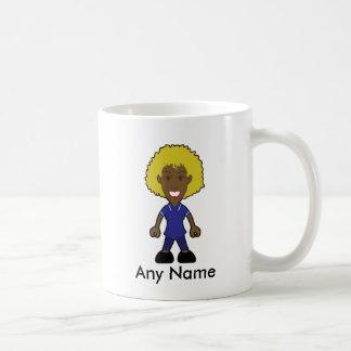黒いブロンドのアフリカの後輩の姉妹のメスのナース コーヒーマグカップ
