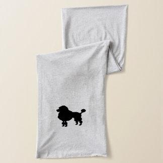黒いプードルのシルエット スカーフ