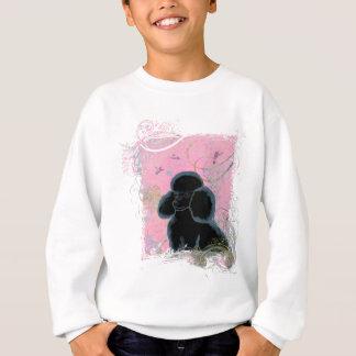 黒いプードルのハチドリの芸術 スウェットシャツ