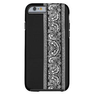 黒いペイズリーのバンダナのiPhone6ケース iPhone 6 タフケース