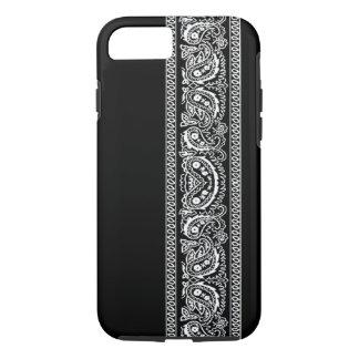 黒いペイズリーのバンダナのiPhone 7の箱 iPhone 8/7ケース