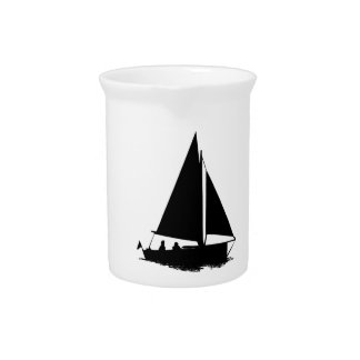 黒いボートのシルエット ピッチャー