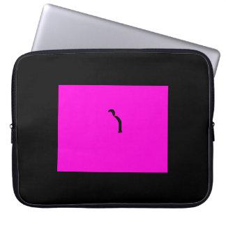 黒いポニーテールのラップトップの箱 コンピュータスリーブケース