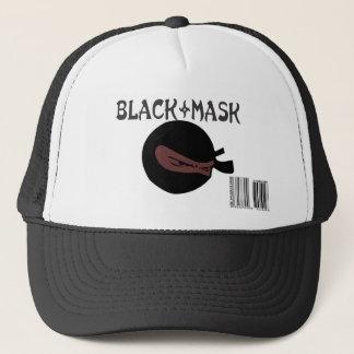 黒いマスクの忍者の帽子 キャップ