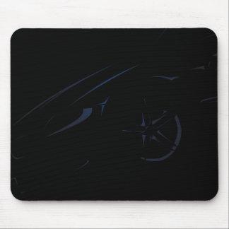 黒いマゼンタ車 マウスパッド