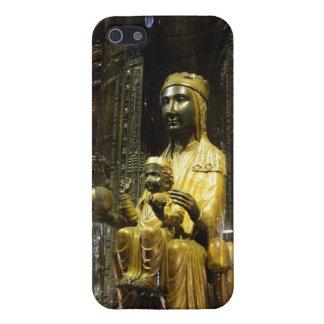黒いマドンナモンセラート iPhone SE/5/5sケース