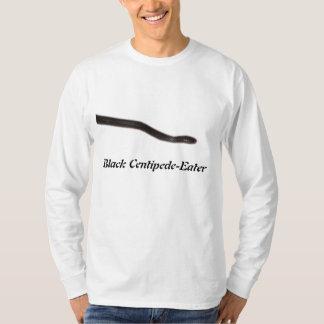 黒いムカデ食べる人の基本的な長袖 Tシャツ