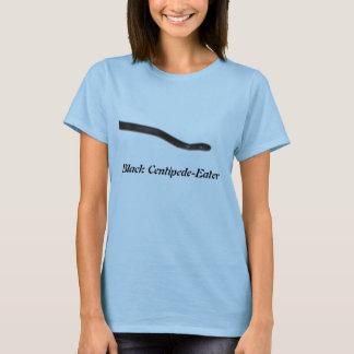 黒いムカデ食べる人の女性ベビードール Tシャツ