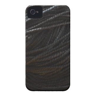黒いヤーン Case-Mate iPhone 4 ケース