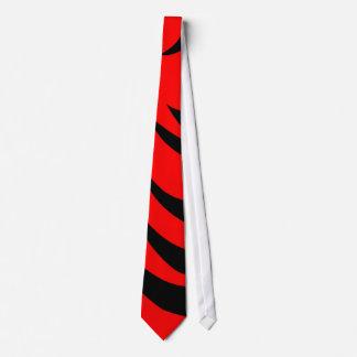 黒いユニークなタイおよび赤いストライプのなレトロの人のタイ ネクタイ