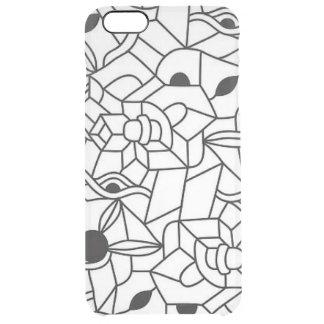 黒いライン絵のデザインのiPhoneの場合 クリア iPhone 6 Plusケース