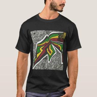 黒いラスタのTシャツ Tシャツ