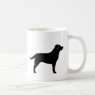 黒いラブラドル・レトリーバー犬のシルエット コーヒーマグカップ