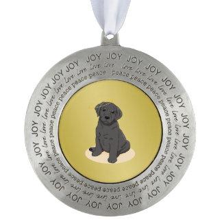 黒いラブラドル・レトリーバー犬の天使 オーナメント