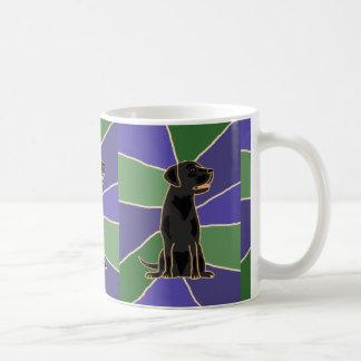 黒いラブラドル・レトリーバー犬の芸術 コーヒーマグカップ