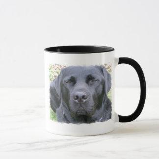 黒いラブラドル・レトリーバー犬犬のコーヒー・マグ マグカップ