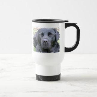 黒いラブラドル・レトリーバー犬犬のプラスチックタンブラー トラベルマグ