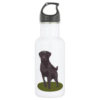 黒いラブラドル・レトリーバー犬犬 ウォーターボトル