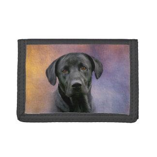 黒いラブラドル・レトリーバー犬