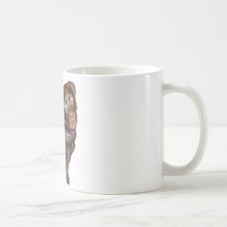 黒いラブラドル・レトリーバー犬 コーヒーマグカップ
