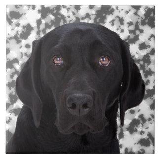 黒いラブラドル・レトリーバー犬 タイル