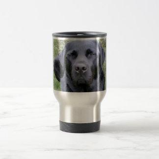 黒いラブラドル・レトリーバー犬 トラベルマグ