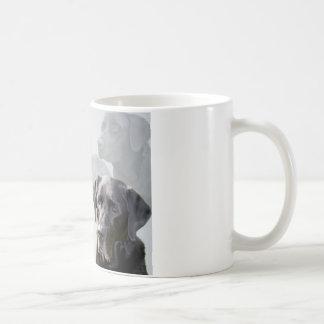 黒いラブラドールの友人の詩のマグ コーヒーマグカップ