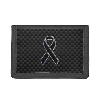 黒いリボンの認識度スタイリッシュなカーボン繊維