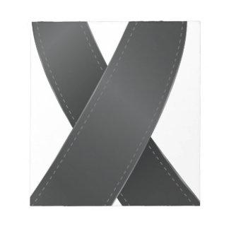 黒いリボン ノートパッド