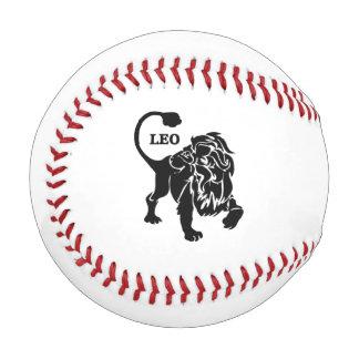 黒いレオのライオンの(占星術の)十二宮図 野球ボール
