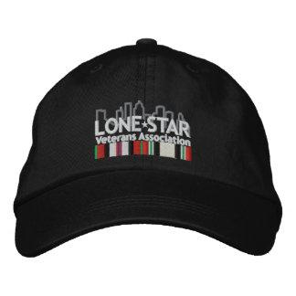 黒いロゴの帽子 刺繍入りキャップ
