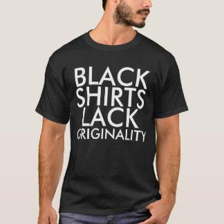 黒いワイシャツの欠乏の独創性の否定のワイシャツ Tシャツ