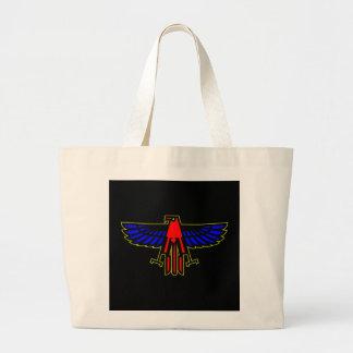 黒いワシの鳥 ラージトートバッグ