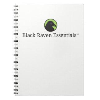 黒いワタリガラスの要素のロゴのノート ノートブック