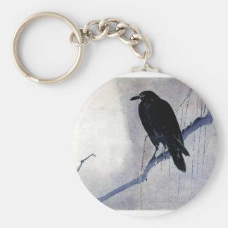 黒いワタリガラスの鳥 キーホルダー