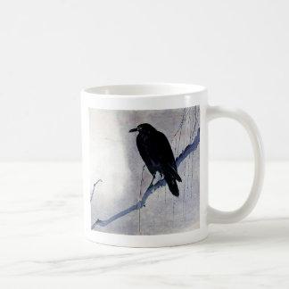 黒いワタリガラスの鳥 コーヒーマグカップ