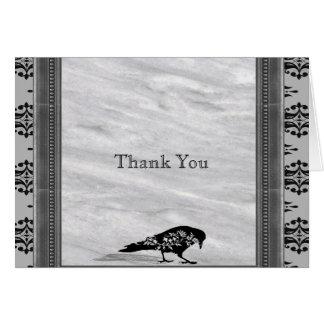 黒いワタリガラスゴシック様式フレーム記念日は感謝していしています カード