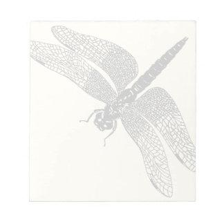 黒いヴィンテージのトンボの自然の芸術 ノートパッド