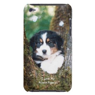 黒い三オーストラリアの羊飼いの子犬のTouch Case-Mate iPod Touch ケース