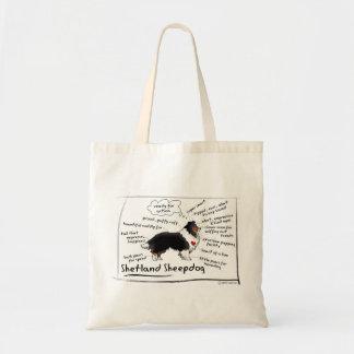 黒い三シェットランド・シープドッグ トートバッグ