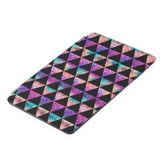 黒い三角形及びカラフルなグリッターパターン iPad MINIカバー