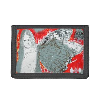 黒い三重ナイロン財布は妖精衰退します