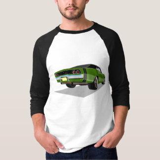 黒い上との68匹の充電器の緑 Tシャツ