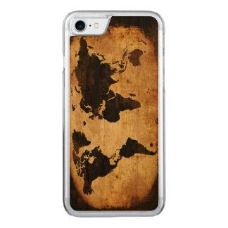 黒い世界地図 CARVED iPhone 8/7 ケース