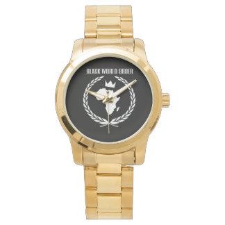 黒い世界秩序の金時計 腕時計