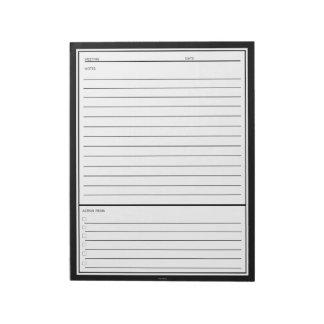 黒い会合のノート ノートパッド