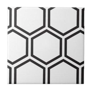 黒い六角形パターン タイル