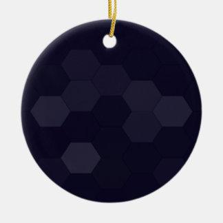 黒い六角形 セラミックオーナメント